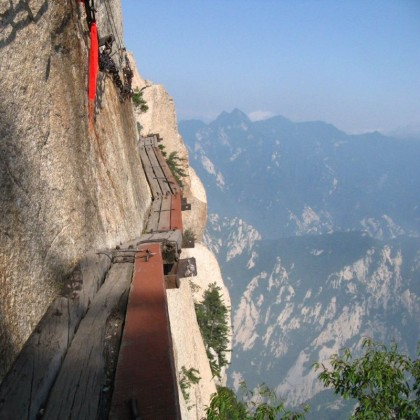 Mount Huashan hiking trail