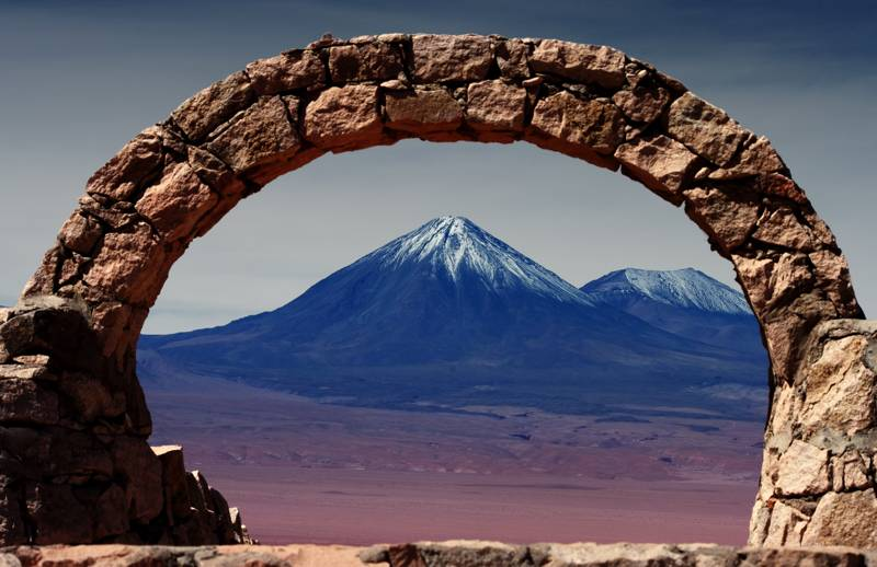 Volcano in the desert of Atacama, Chile