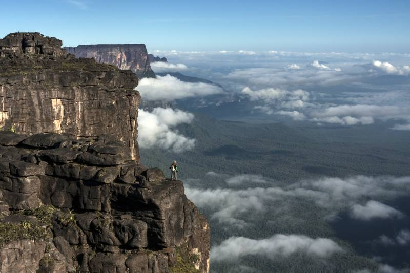 View from Roraima Tepui, triple border, Venezuela, Guyana, Brazil