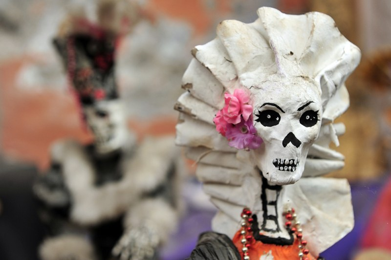 Mexican folklore skeletons in Mexico City, Mexico