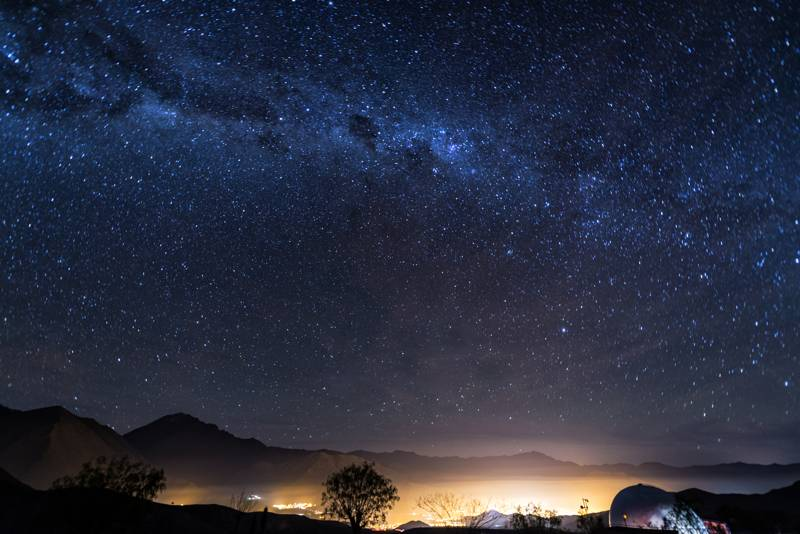 Night sky over the Elqui Valley in Chile