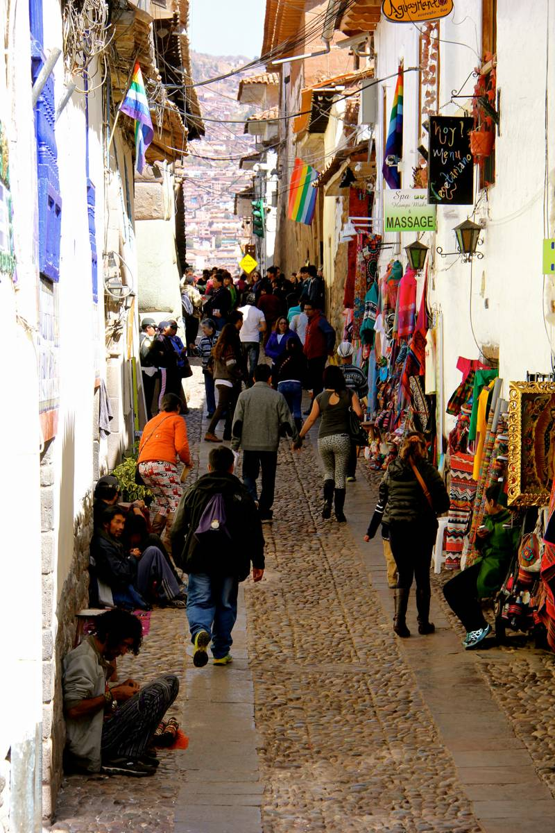 Busy streets of Cusco, Peru