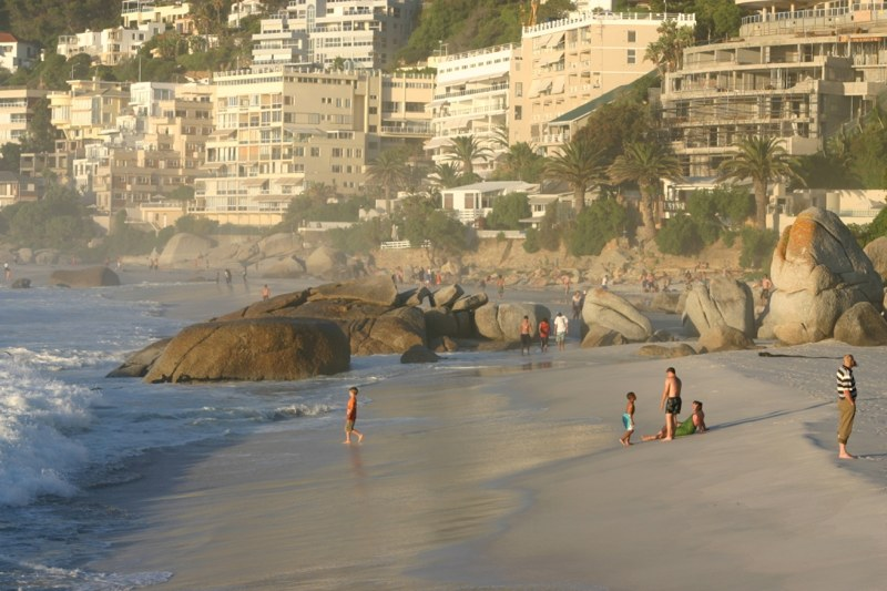 Clifton beach at sunset