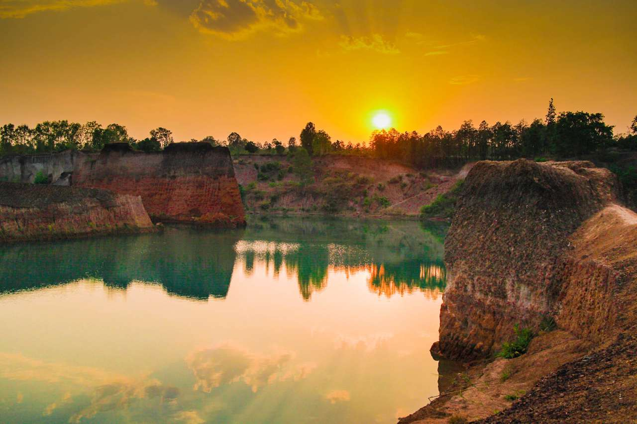 Sunset at Hang Dong Quarry in Chiang Mai