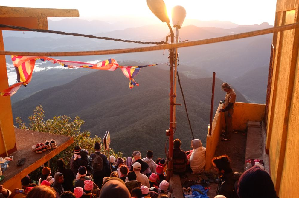 People at Adam's Peak