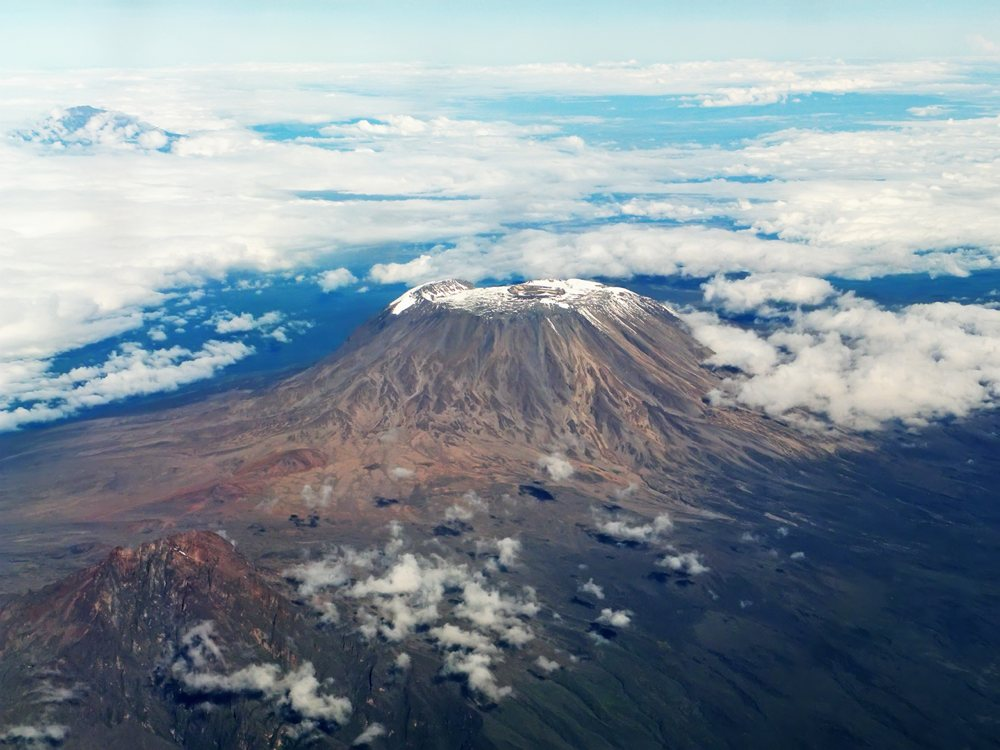 Kilimanjaro mount, a view from above