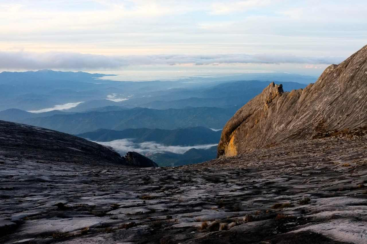 On top of Mount Kinabalu