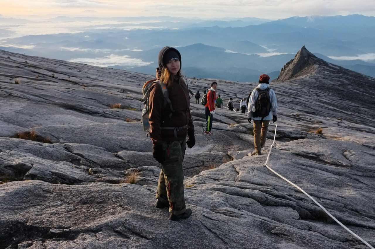 Way down from the Kinabalu summit
