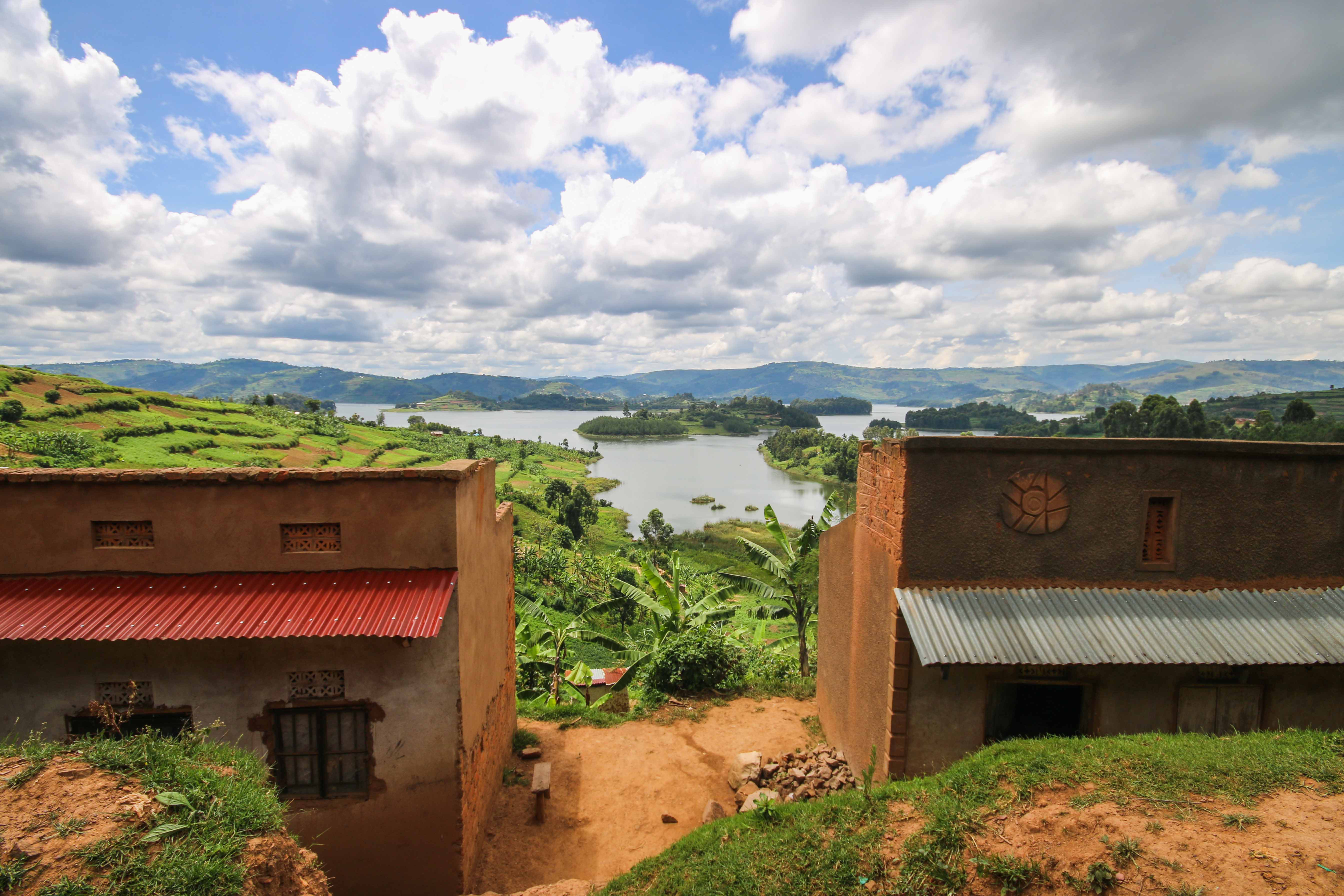 Lake Bunyonyi in Bwindi national park, Uganda