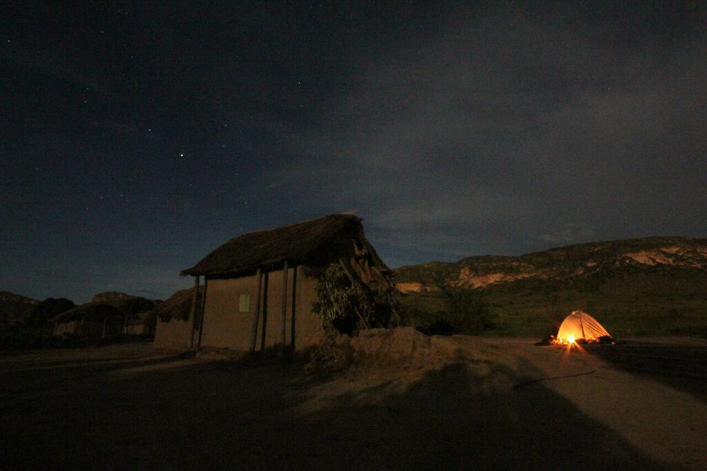 Night campsite in Isalo national park